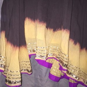 Free People Dresses - FREE PEOPLE Tie Dye metallic dress